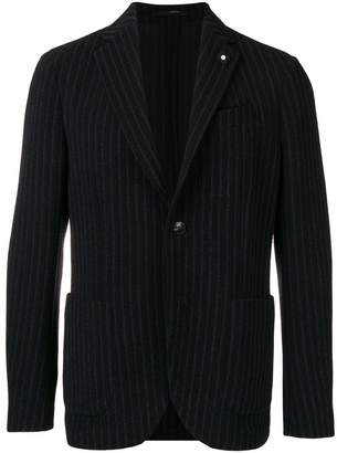 Lardini striped fitted blazer
