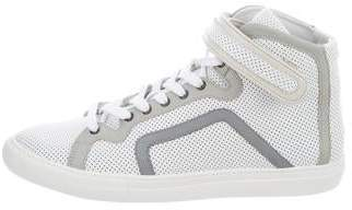 Pierre Hardy Perforated High-Top Sneakers w/ Tags