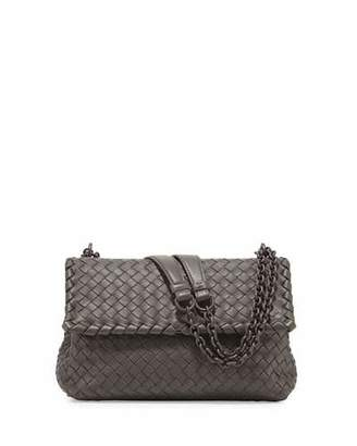 Bottega Veneta Olimpia Small Shoulder Bag, Gray $2,550 thestylecure.com