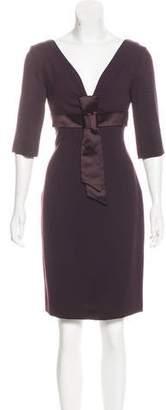 Alexander McQueen Wool Sheath Dress