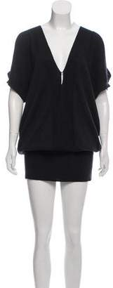 Zero Maria Cornejo Wool Mini Dress