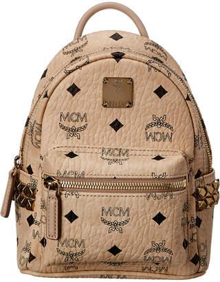 MCM Stark Side Studs Bebe Boo Mini Visetos Backpack