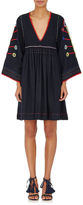 Ulla Johnson Women's Masha Embroidered Silk Dress $565 thestylecure.com