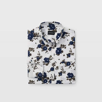 Club Monaco Slim Blooming Floral Shirt