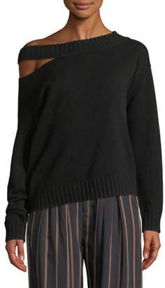Vince Off-the-Shoulder Slit Pullover Top