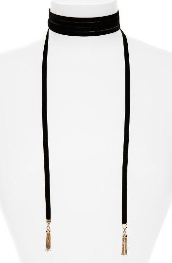 Women's Baublebar Velvet Lariat Choker Necklace