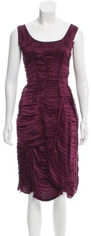 Burberry Burberry Prorsum Silk Gathered Dress