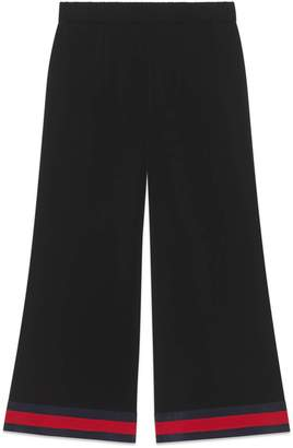 Gucci Viscose culotte pant with Web