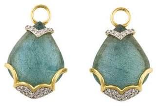 Jude Frances 18K Lisse Labradorite & Diamond Earring Enhancers