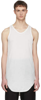 Julius White Rib Tank Top