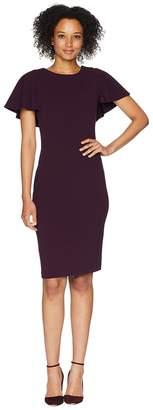 Calvin Klein Flutter Sleeve Sheath Dress CD8C133D Women's Dress