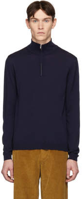 Norse Projects Navy Merino Half-Zip Fjord Pullover