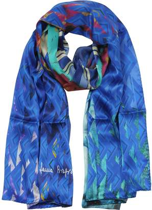 Laura Biagiotti Triangle Printed Twill Silk Stole