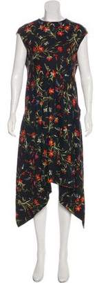 Balenciaga Floral Print Maxi Dress
