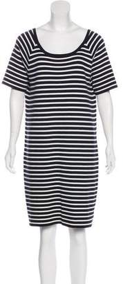 Michael Kors Striped Short Sleeve Dress