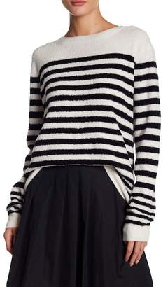 Vince Engineered Striped Print Wool Blend Sweater