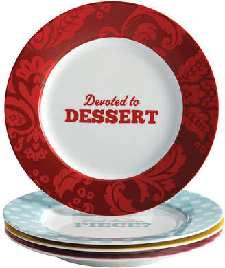 JCPenney CAKE BOSS Cake BossTM Set of 4 Porcelain Dessert Plates - Patterns & Quotes