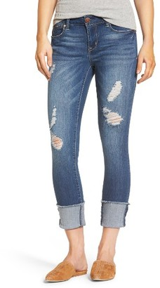 Women's 1822 Denim Cuffed Crop Skinny Jeans $42 thestylecure.com
