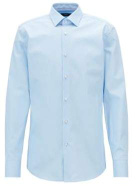 BOSS Hugo Slim-fit shirt in easy-iron Austrian cotton poplin 15 Light Blue