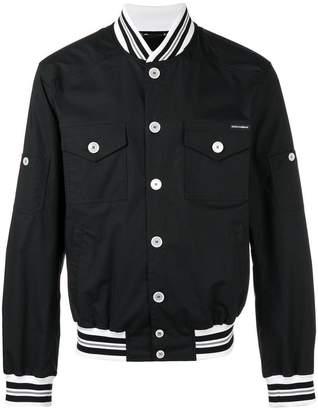 Dolce & Gabbana logo tape detail bomber jacket