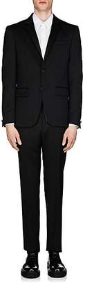 Givenchy Men's Satin-Trimmed Wool-Mohair Twill Two-Button Tuxedo - White