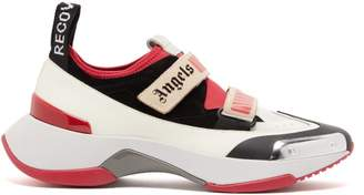 Palm Angels Recovery Contrast Panel Trainers - Mens - Grey Multi