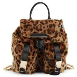 KENDALL + KYLIE Poppy Leopard Faux Fur Convertible Backpack