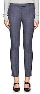 The Row Women's Tao Stretch Wool-Blend Slim Trousers - Grey Blue Melange
