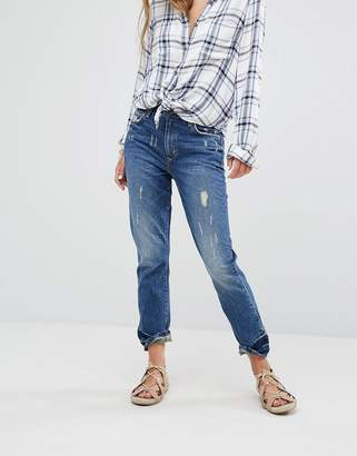 Lovers + Friends Logan High Rise Slim Jeans with Released Hem