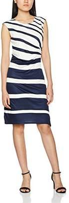 Gerry Weber Women's Fitted Waist No Information|#254 Striped Short Sleeve Regular Dresses,(Manufacturer Size:38)