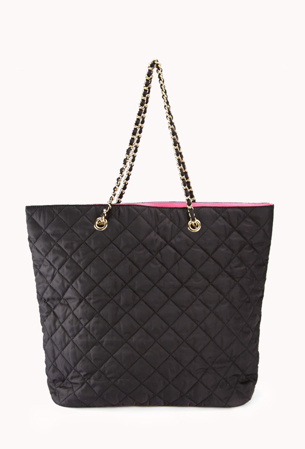 Forever 21 Quilted Nylon Tote