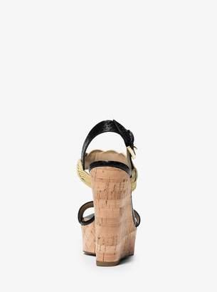 Michael Kors Amelia Snakeskin Wedge Sandal