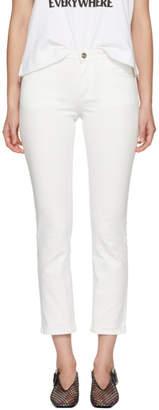 Totême White Straight Jeans