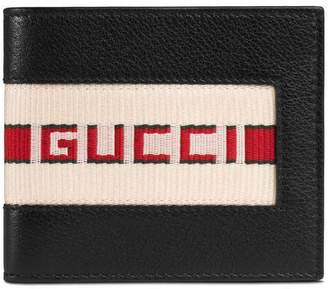 Gucci stripe leather wallet