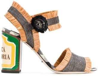 Dolce & Gabbana Keira raffia sandals