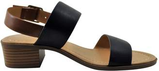 City Classified Tum S Women's Double Band Stacked Heel Sandal
