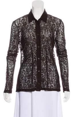 Dolce & Gabbana Long Sleeve Lace Top