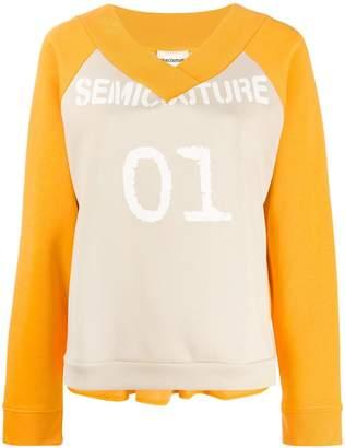 Semi-Couture Semicouture logo peplum sweatshirt
