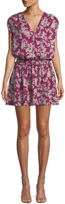 Ramy Brook Perrie Printed Silk Mini Dress