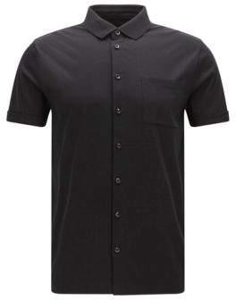 BOSS Hugo Cotton Polo Shirt, Slim Fit Puno XXL Black