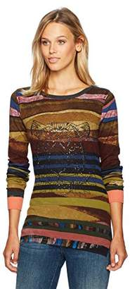 Desigual Women's Karin Woman Flat Knitted Thin Gauge Pullover
