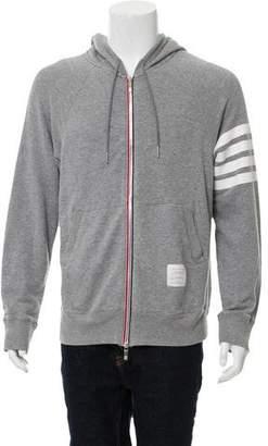Thom Browne Striped Zip-Up Hoodie