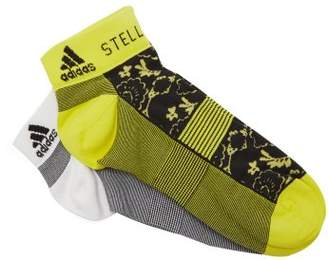 adidas by Stella McCartney Set Of 2 Flower Print Socks - Womens - Yellow White