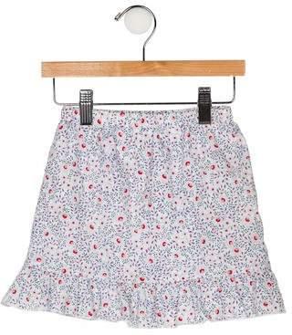 Papo d'Anjo Girls' Printed Ruffled Skirt
