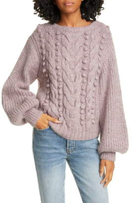Eleven Paris Six Popcorn Knit Alpaca Blend Sweater