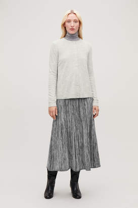 Cos LAMBSWOOL CARDIGAN WITH BACK PLEAT