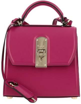 Salvatore Ferragamo Handbag Boxyz Small Bag In Smooth Leather With Metal Padlock