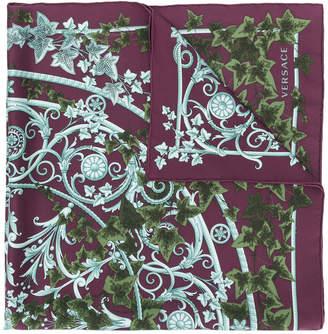 Versace Edera print scarf