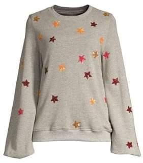 Rococo Sand Sequin Star Print Sweatshirt