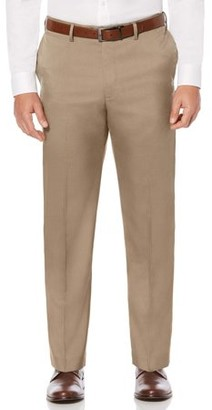 Savane Flat Front Stretch Crosshatch Dress Pant